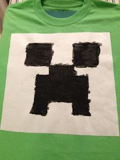 Minecraft Party - make your own creeper shirt