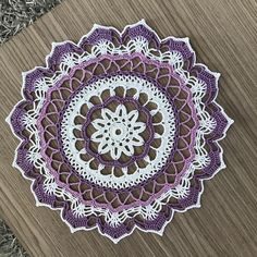 This crochet doily will be perfect for home decoration, home decor and so much more! It is crochet handmade doily made of 100% mercerized cotton of high quality. The doily is approx. 29 cm (11.42) in diametr. It is three-colored: white, dark lilac and light lilac. Please note that color