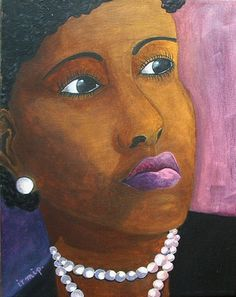 Lady with Pearl Necklace contemplating the by FreelyExpressed
