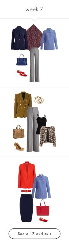 """week 7"" by cokie61 on Polyvore featuring J.Crew, Gucci, Ralph Lauren Collection, Ralph Lauren, Longchamp, Vince Camuto, Balmain, Nine West, Icebreaker and SUNO New York"