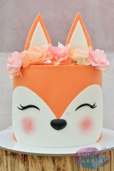 Girly Birthday Cakes, Girly Cakes, Homemade Birthday Cakes, Beautiful Birthday Cakes, Valentine Desserts, Cute Desserts, Cake Designs For Kids, Rodjendanske Torte, Fox Cake