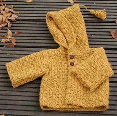 patron tricot layette veste octobre - patron tricot - Lainebox.com - Fait Maison