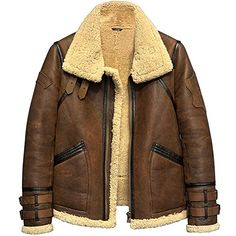 713cb77e5d3 New Denny Dora Men s Shearling Jacket Flight Jacket Fur Leather Jacket  Imported Wool Australia Men s Sheepskin Aviator Coat online - Topselectshops