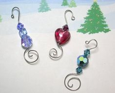 xmas ornament beaded hangers. These could be used forall of the ornaments i make. They are perfect!