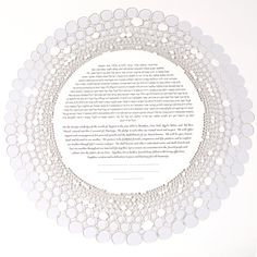 The RINGS papercut ketubah by RuthMergi on Etsy, $650.00