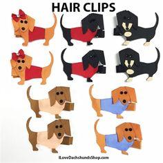 Dachshund Hair Clips