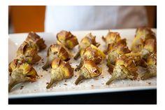 crisp fried artichoke and lemon wheels with spiced fennel salt...AND a Gorgeous Blog...