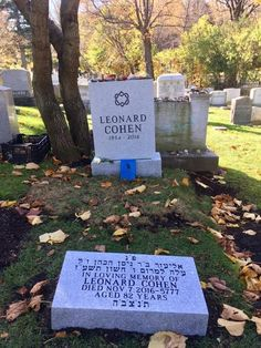 Leonard Cohen Tombstone - Cohencentric: Leonard Cohen Considered