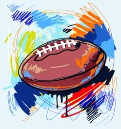 Football Clip Art Graffiti | Hand drawn with graffiti sport background art vector Free vector 800 ...