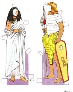 Ancient Egyptian Costumes Paper Dolls: History of Costume Series, Tom Tierney | Gabi's Paper Dolls