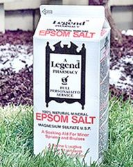 Epsom Salt is Magnesium Sulfate... Helps to produce bushier plants, produce more flowers, and deter pests. Great for the garden!