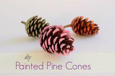 DIY Painted Pine Cones - Χρωματιστα Κουκουνάρια!!! #decor #pinecone #Christmas #diy #tutorial #easycraft #paint