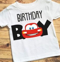 3 Year Old Birthday Party Boy, 2nd Birthday Boys, Birthday Themes For Boys, Birthday Boy Shirts, Cars Birthday Parties, Birthday Party Decorations, Birthday Ideas, Disney Cars Party, Disney Cars Birthday
