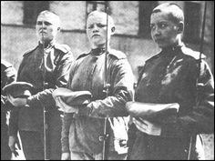 In May 1917, Maria Bochkareva, persuaded Alexander Kerensky, Russia's new leader, to allow her to form a Women's Battalion. #war #history #WWI