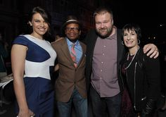 The Walking Dead Season 4 Premiere Party - Lauren Cohan (Maggie Greene), Lawrence Gilliard Jr. (Bob Stookey), Robert Kirkman (Executive Producer, Writer) and Gale Anne Hurd (Executive Producer)