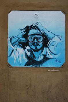 Blub (L'arte sa nuotare) rende onore a Gustave Courbet, Via della Spada, Firenze (Toscana, Italy) - by Silvana, marzo 2015