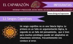 12 sesgos cognitivos en una Infografía