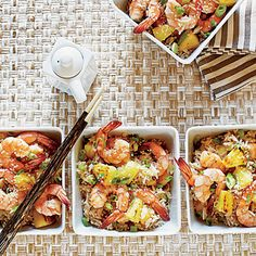 Shrimp-Pineapple Fried Rice | This dish gets its unique flavor from pineapple seared quickly in the wok prior to combining with the cooked shrimp.