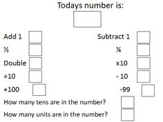 Blank Algorithm Sheet - An editable algorithm sheet that allows you to change the number for children to calculate different problems from.