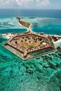 Dry Tortugas National Park. Left from Key West by boat and snorkeled - Key West, Florida.