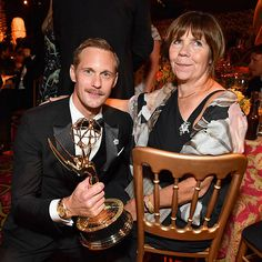 The Alexander Skarsgard Library - Alex and Mama My at HBO's Post Emmy Awards...