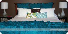Master Bedroom. Ruffles.  http://www.lovefrommomma.com/