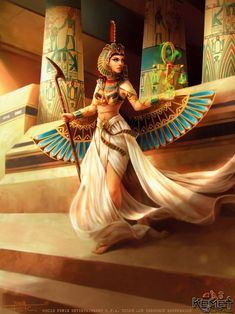 Maat Incarnate by Feig-Art on DeviantArtYou can find Egyptian goddess and more on our website.Maat Incarnate by Feig-Art on DeviantArt Maat Goddess, Isis Goddess, Goddess Art, Egyptian Women, Egyptian Art, Egyptian Isis, Egyptian Jewelry, Ancient Egypt Art, Ancient Aliens