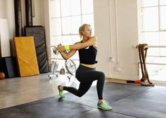 Warm-up with lunges