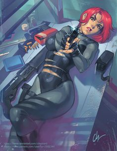 Oh man, have you heard of that hot new game Capcom is coming out with? I cannot wait to play Dino Crisis. A saucy version is available on my Patreon If you're totally hip and cooler than other people! Female Character Design, Character Concept, Character Art, Concept Art, Fantasy Characters, Female Characters, Anime Characters, Dino Crisis, Cyberpunk Girl