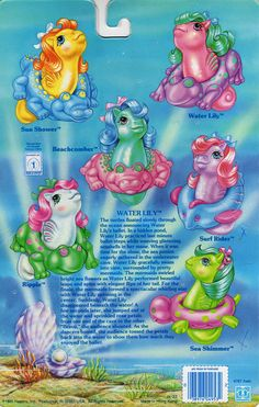 Baby Sea Ponies Backcard - Water Lily