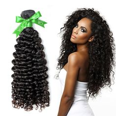 GoldRose Beauty Grade 6A Brazilian Virgin Curly Wave Human Hair Extensions 1 Bundle Natural Black Color Size 22 Inches 100Gram * This is an Amazon Affiliate link. For more information, visit image link.