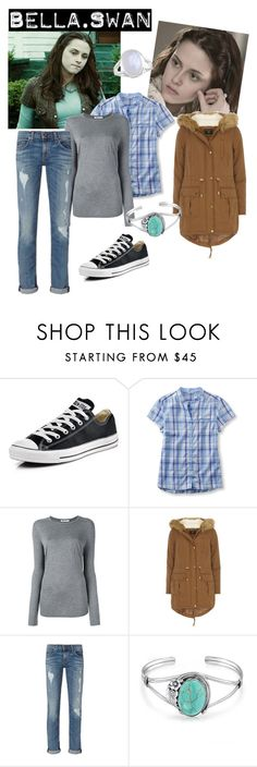 """Bella Swan"" by fashion-film-fun ❤ liked on Polyvore featuring Converse, B. Ella, L.L.Bean, T By Alexander Wang, Dorothy Perkins, rag & bone, Bling Jewelry and BillyTheTree"