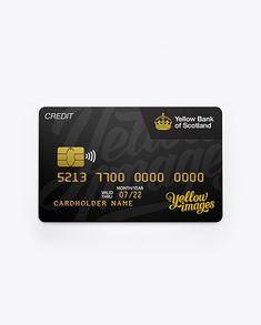 Credit Card Mockup - Front View