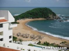 Looking for a warm winter getaway but not into giant-sized beach resorts? Consider Huatulco, a tourism hotspot on Mexico's Pacific coast where a string. International Real Estate, Mexico Vacation, Pacific Coast, Beach Resorts, Places To See, Tourism, Beautiful Places, Water, Travel