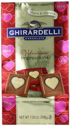 Ghirardelli Limited Edition Valentine's Impressions Squares Milk Chocolate, White, 7.33 Ounce - http://mygourmetgifts.com/ghirardelli-limited-edition-valentines-impressions-squares-milk-chocolate-white-7-33-ounce/