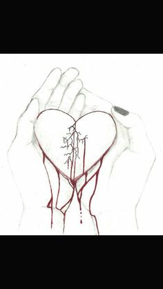 Gebrochenes Herz Informations About Broken Heart by on DeviantArt Pin You can easily use m Broken Heart Drawings, Broken Heart Art, Shattered Heart, Heart Break Drawings, Sad Drawings, Drawing Sketches, Pencil Drawings, Drawing Step, Heartbroken Drawings