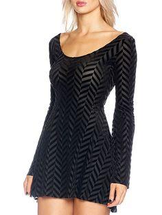 Burned Velvet Herringbone Arabella Dress - LIMITED (AU $99AUD / US $80USD) by Black Milk Clothing