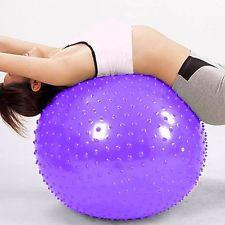 massage yoga ball   Purple 85CM Yoga fit Massage Ball Health gym exercise BallAir Pump