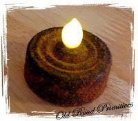 Make your tea lights grungy/primitive looking  http://oldroadprimitives.blogspot.com/search?updated-max=2011-08-03T17:42:00-07:00=10