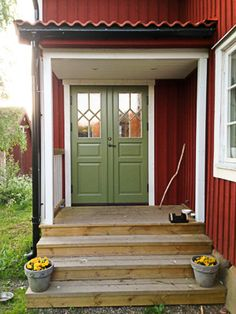 Red Cottage, 4th Street, School Colors, My Dream Home, Perfect Place, Interior And Exterior, Porch, Villa, Doors