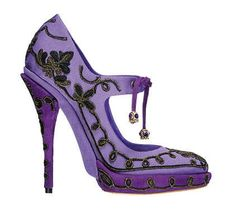 Ornate purple Dior pumps. Design works No.1920 |Purple Heels|