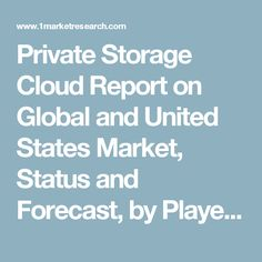 Private Storage Cloud Report on Global and United States Market, Status and Forecast, by Players, Types and Applications