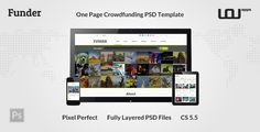 This Deals FUNDER - One Page Crowdfunding PSD Templateyou will get best price offer lowest prices or diccount coupone