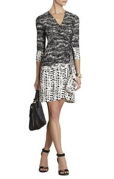 Adele Printed Wrap Dress | BCBG: So adorable! Would love it for ARTcetera in the fall...