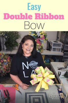 In this video, Julie Siomacco of Southern Charm Wreaths teaches you how to make a double ribbon bow the easy way using the EZ Bow Maker. If you have arthritis or other pain in your hands, this is an easier way for you to make your bows for wreaths. Making Bows For Wreaths, How To Make Wreaths, How To Make Bows, Wreath Making, Diy Bow, Diy Ribbon, Ribbon Bows, Ribbons, Ribbon Hair