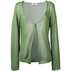 Blugirl knitted cardigan (495 CAD) ❤ liked on Polyvore featuring tops, cardigans, green, olive cardigan, army green cardigan, cotton cardigan, blugirl and green cardigan