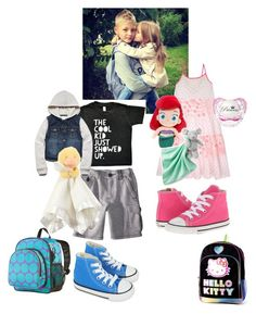 """""""Ootd/ootn * Austin and Ava *"""" by jalexforever ❤ liked on Polyvore featuring Derhy, Converse, Forever 21, Hello Kitty, Wildkin and Carter's"""