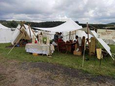 Unser Wikinger Lager auf dem Mittelalter Markt in Freisen 2016