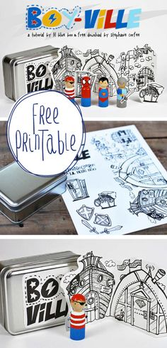 Free Printable!  This would make such a cute gift or craft project.