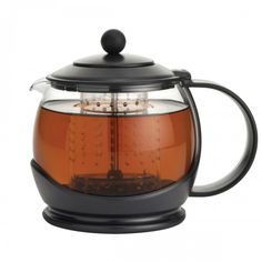 Brew your own tea with the BonJour Prosperity Teapot with Shut-Off Infuser, available at the Food Network Store.